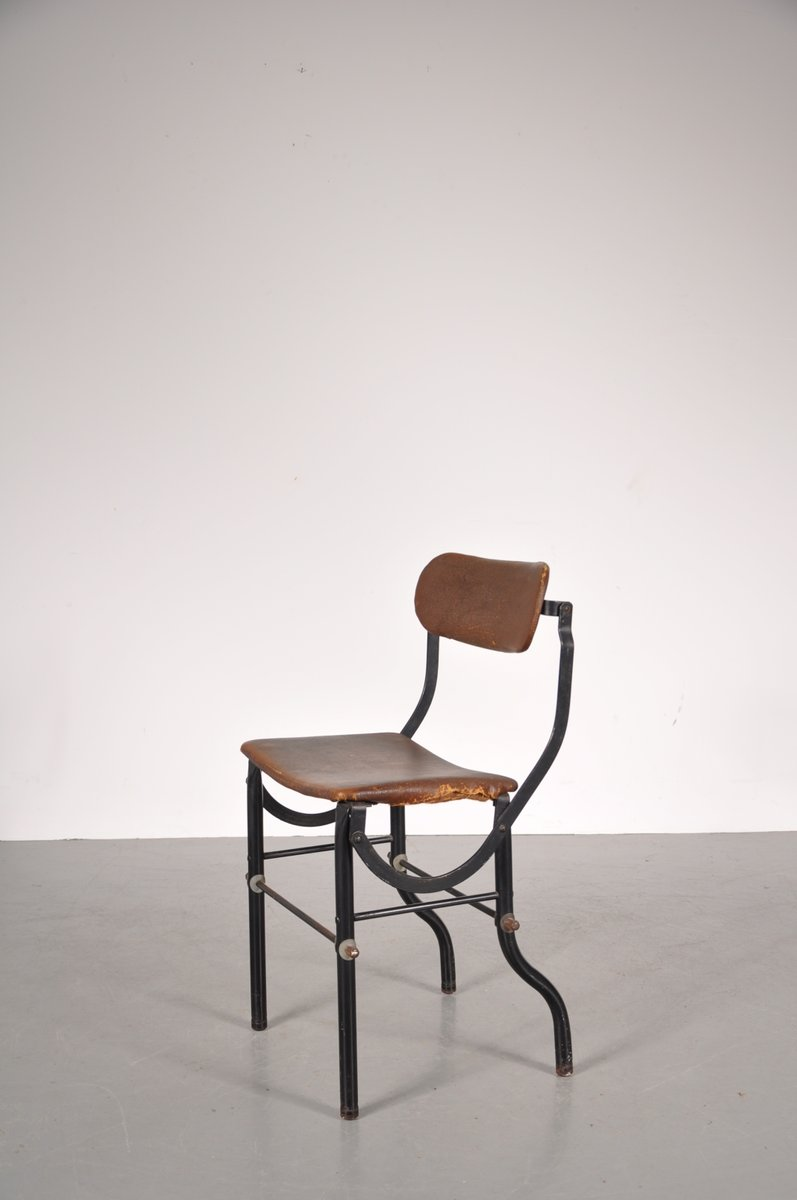 Industrial British Working Chair From Tan Sad, 1930s