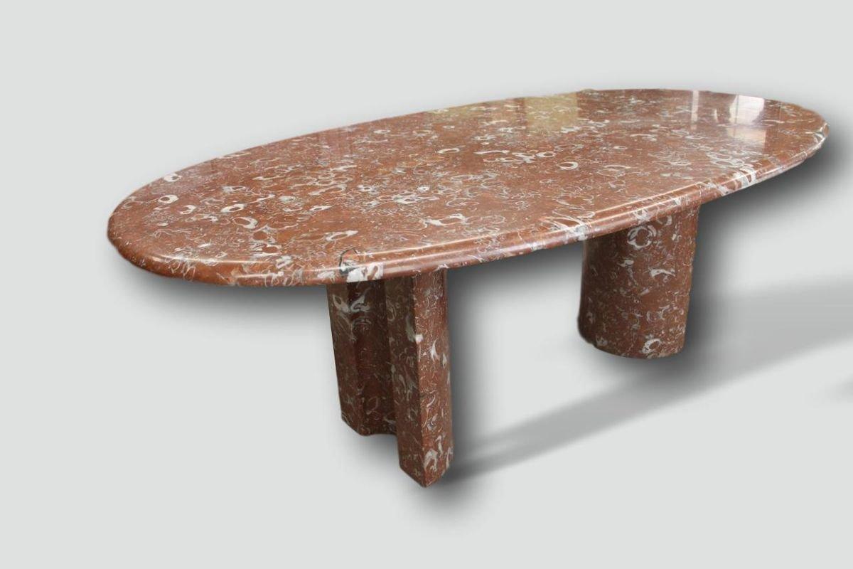 Tavolo Da Pranzo Grande In Marmo Di Maison Charles Anni 70 In Vendita Su Pamono