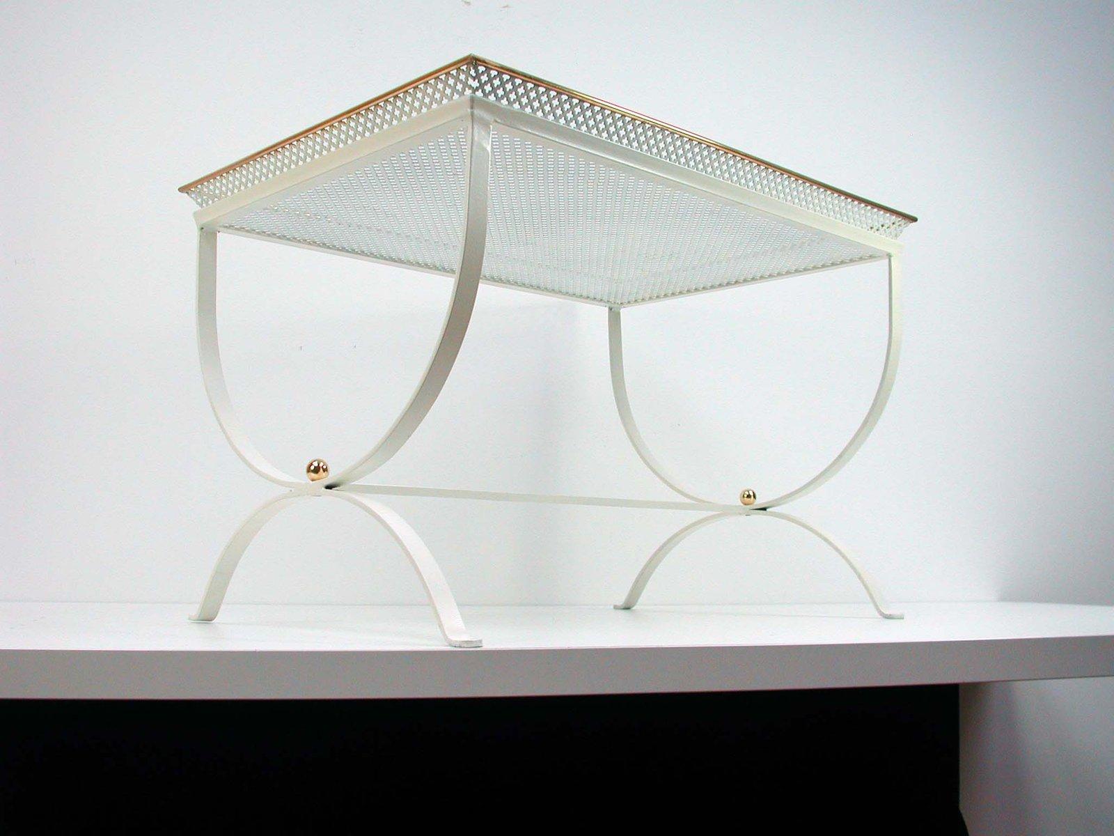 schneewei er beistelltisch aus frankreich 1950er bei pamono kaufen. Black Bedroom Furniture Sets. Home Design Ideas