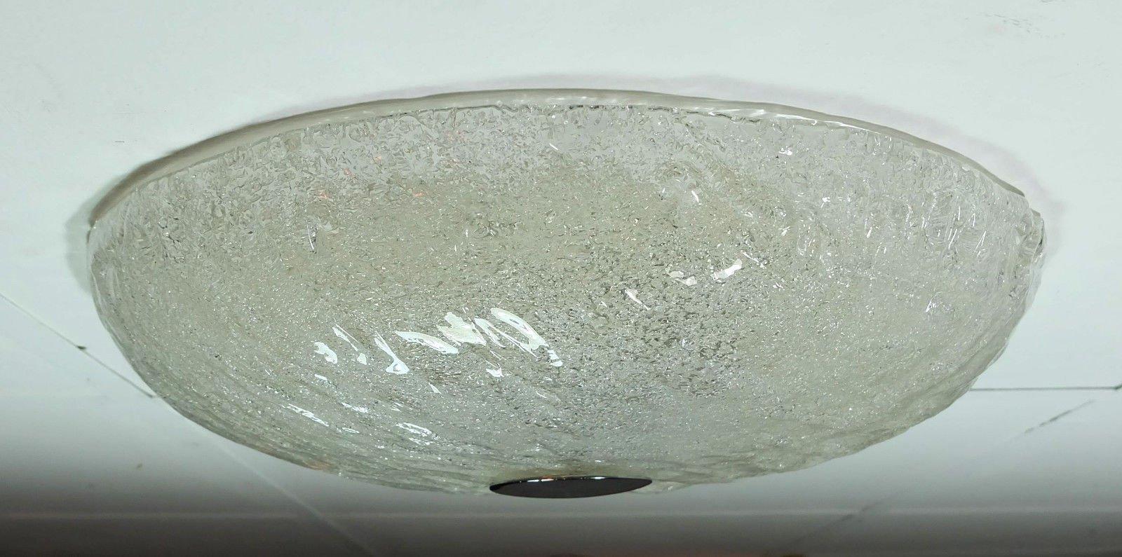 Milchglas Deckenlampe, Deutschland, 1960er