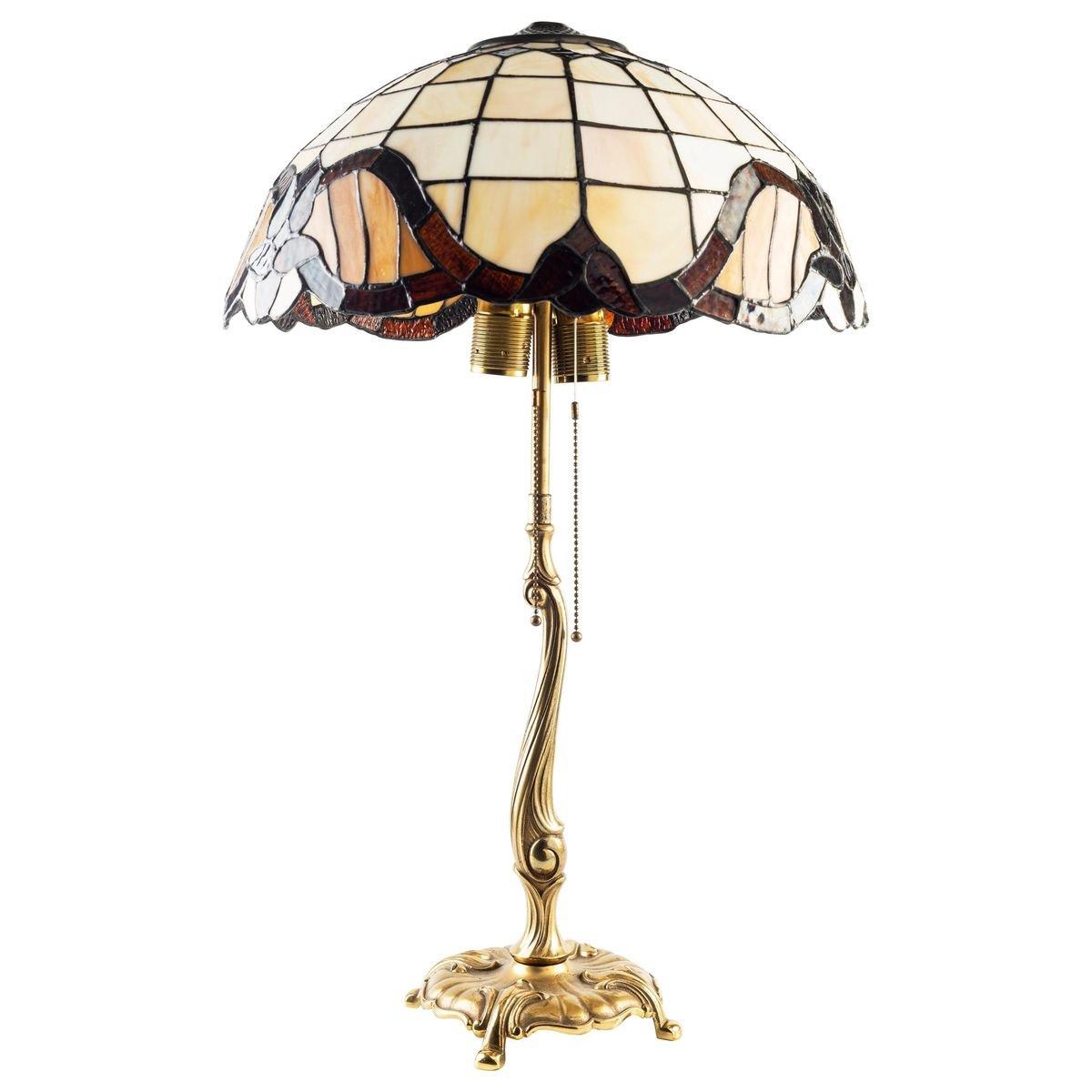 Lampada Da Tavolo Vintage In Stile Tiffany In Vendita Su Pamono