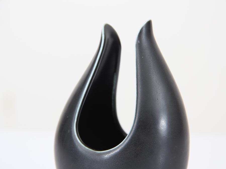 kurze schwarze caolina vase von gunnar nylund f r r rstrand 1960er bei pamono kaufen. Black Bedroom Furniture Sets. Home Design Ideas