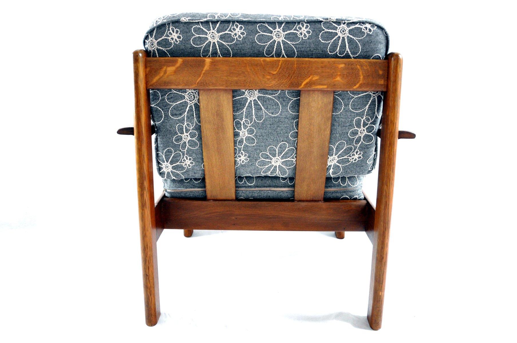 d nischer vintage sessel aus teak und nussholz bei pamono kaufen. Black Bedroom Furniture Sets. Home Design Ideas