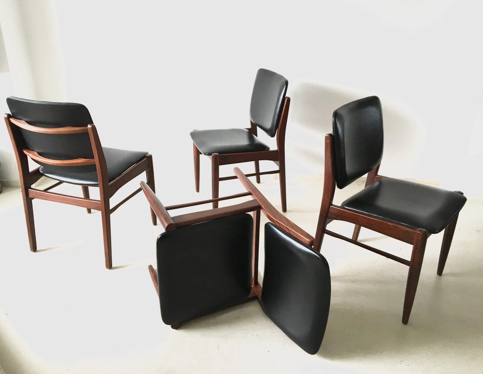 d nische vintage esszimmerst hle 1960er 4er set bei pamono kaufen. Black Bedroom Furniture Sets. Home Design Ideas