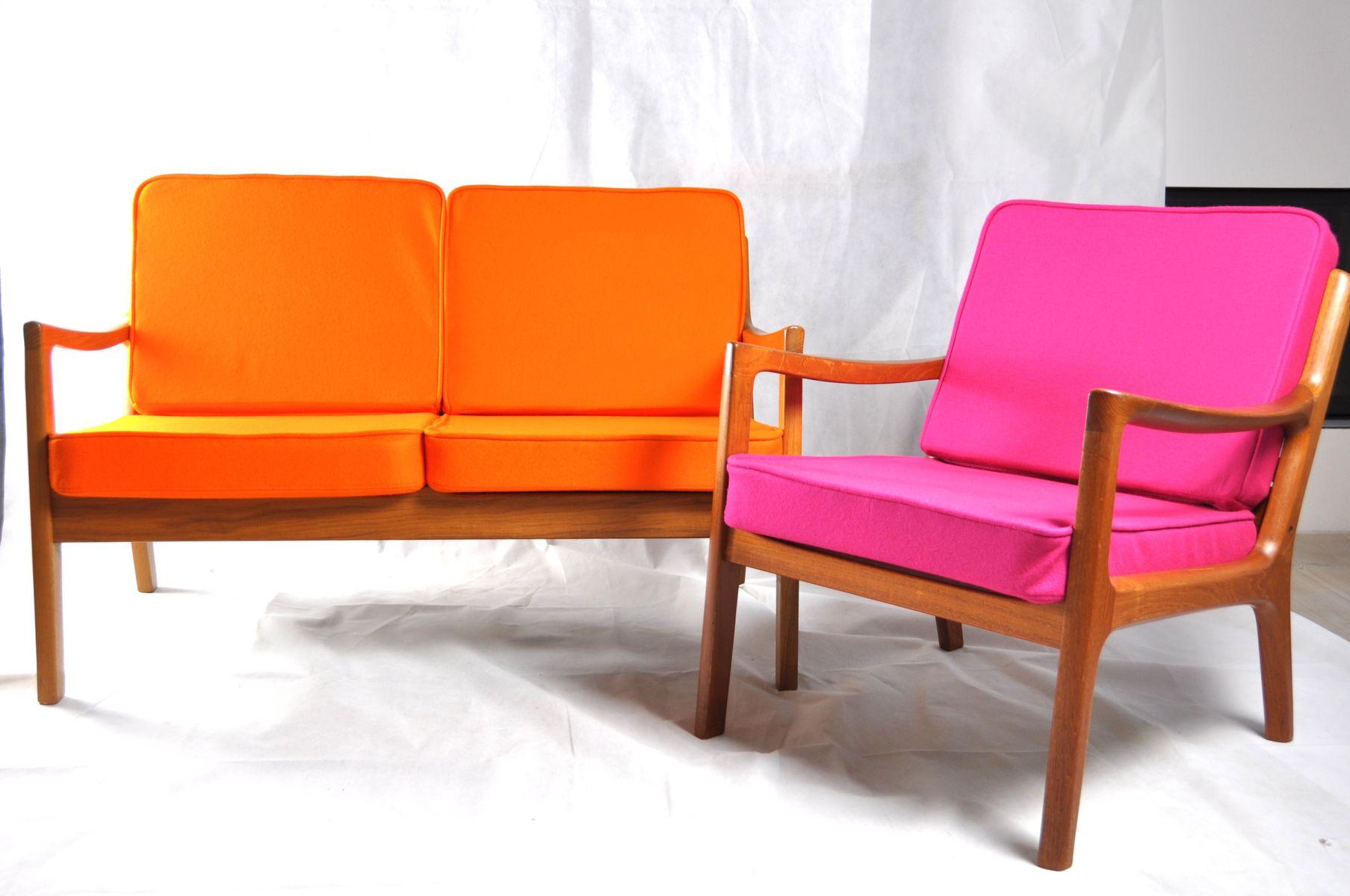 d nisches zwei sitzer sofa von ole wanscher f r poul jeppesen bei pamono kaufen. Black Bedroom Furniture Sets. Home Design Ideas