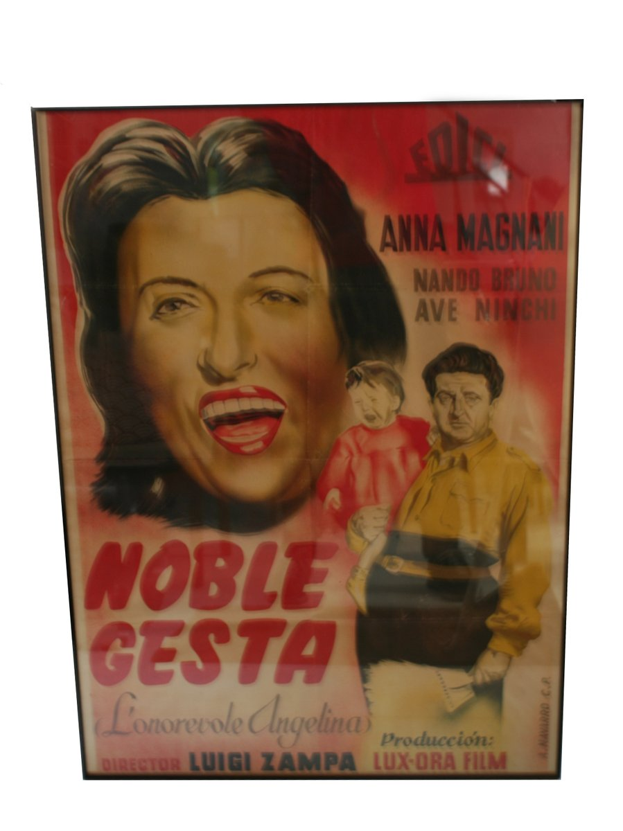 Gerahmtes Anna Magnani Noble Gesta Filmposter, 1947 bei Pamono kaufen