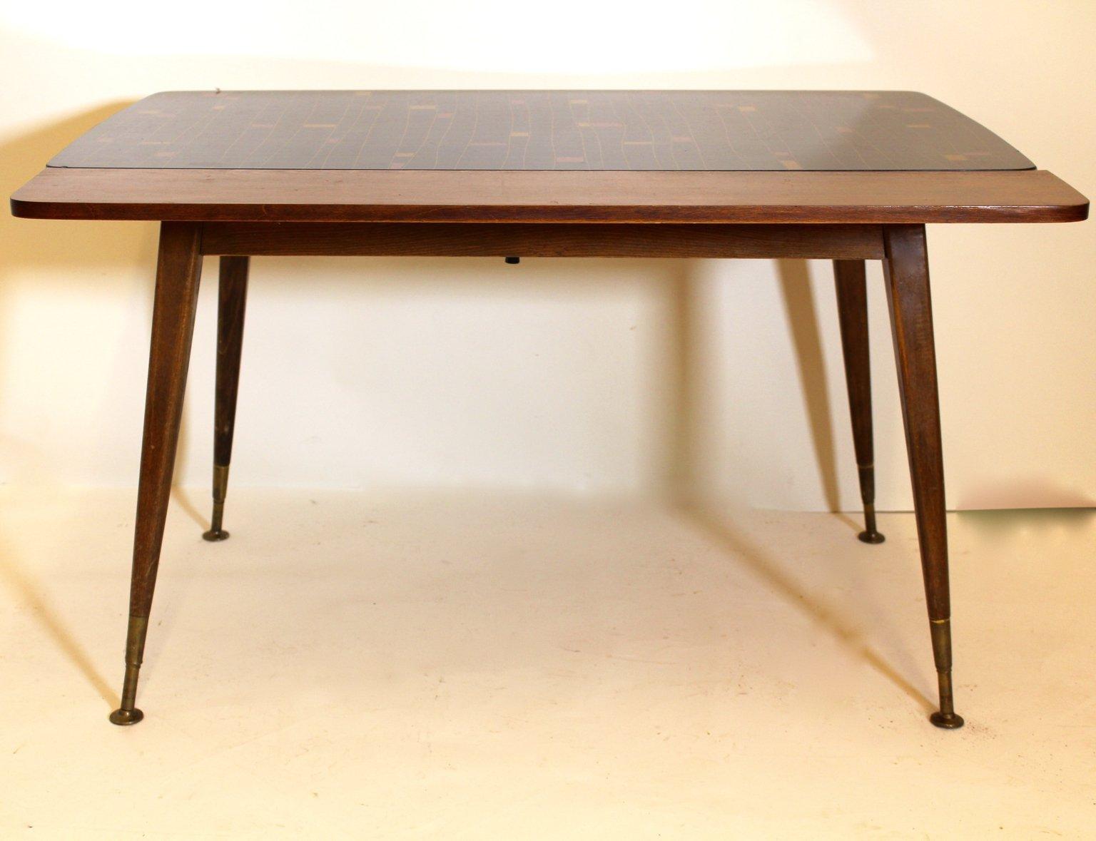 Ausziehbarer Tisch mit Mosaikmuster, 1950er