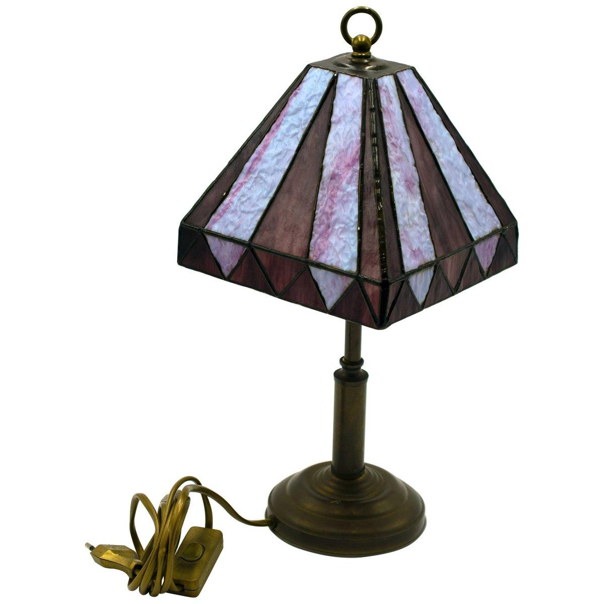Lampada Da Tavolo Vintage In Stile Tiffany Fine Anni 50 In Vendita Su Pamono