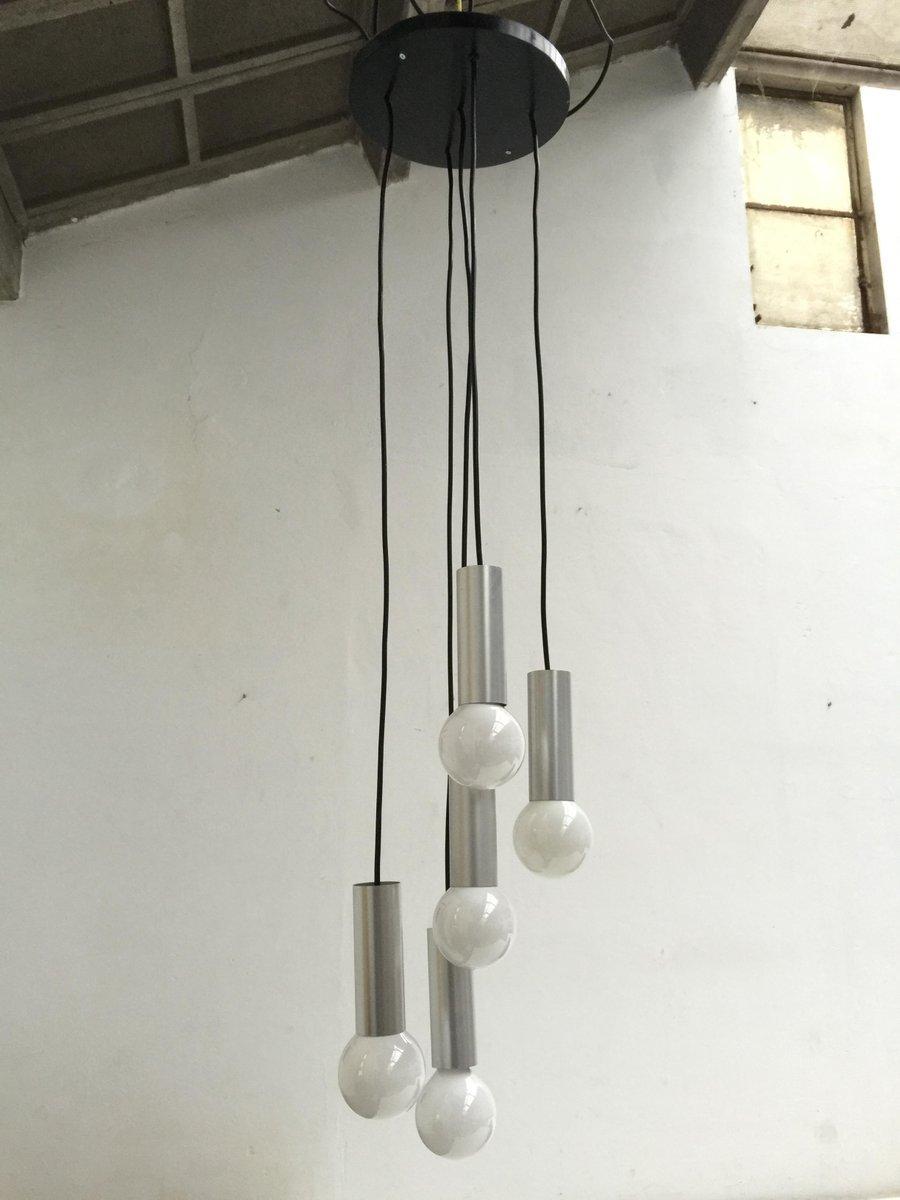Space Age Aluminium Deckenlampe, Niederlande, 1960er