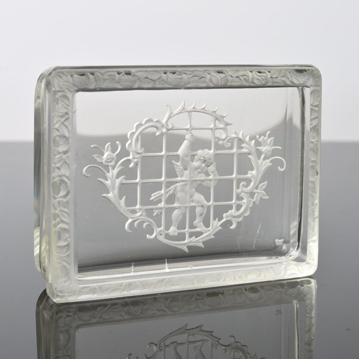 Vintage Salt Cellar-Teak and Bohemian Glass