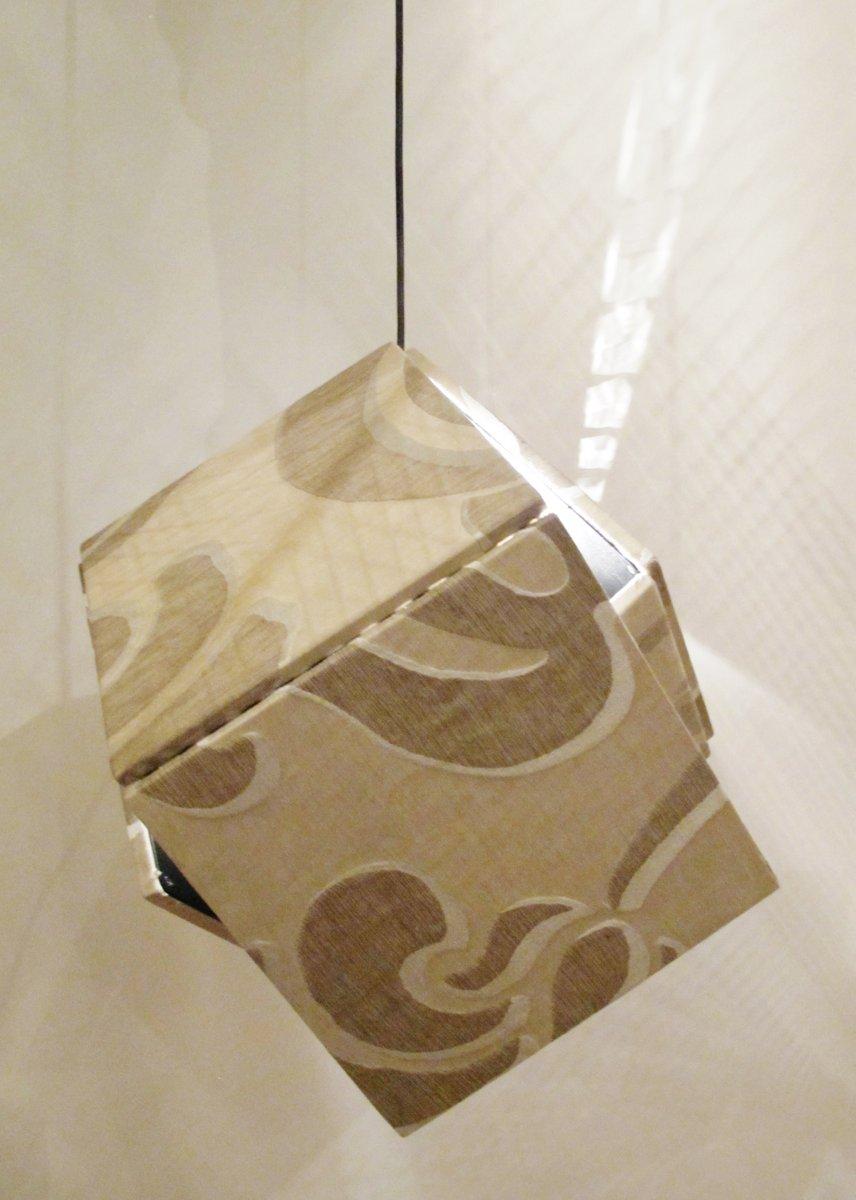 Seiden Hängelampe von Harry Thaler für Swing Gallery