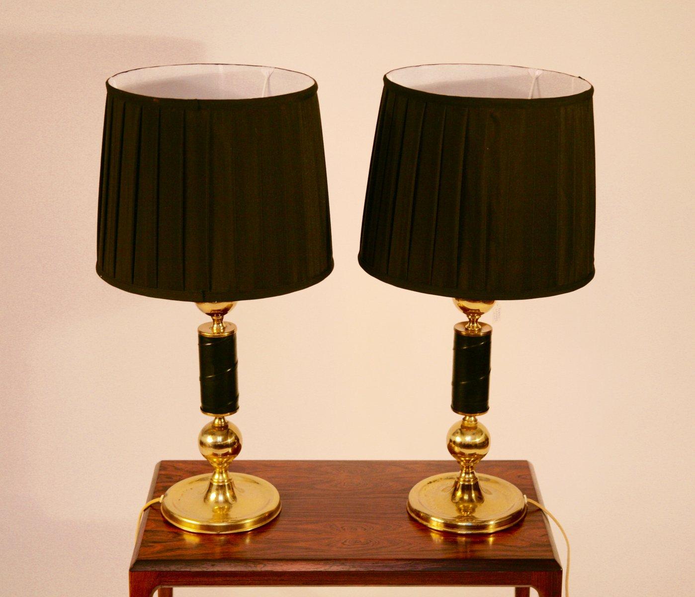 Schwedische Vintage Tischlampen, 2er Set