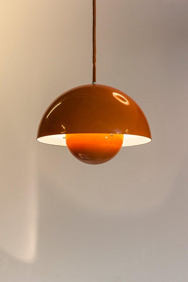 lampe suspension flowerpot par verner panton pour louis poulsen 1970s - Luminaire Salle A Manger Contemporain2192