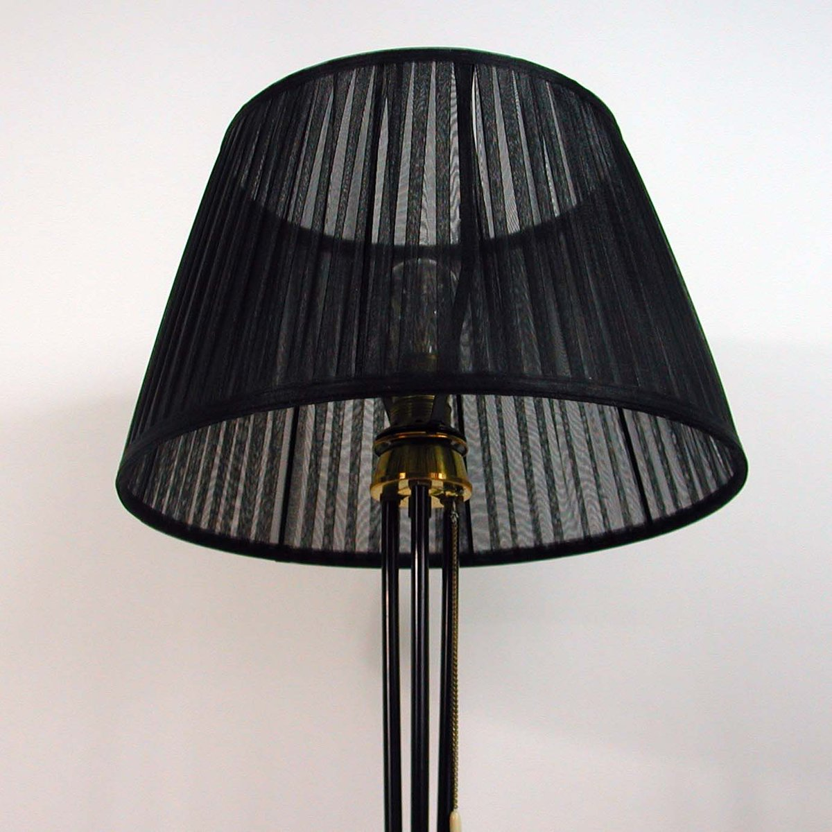 Black Tripod Floor Lamp, 1950s For Sale At Pamono