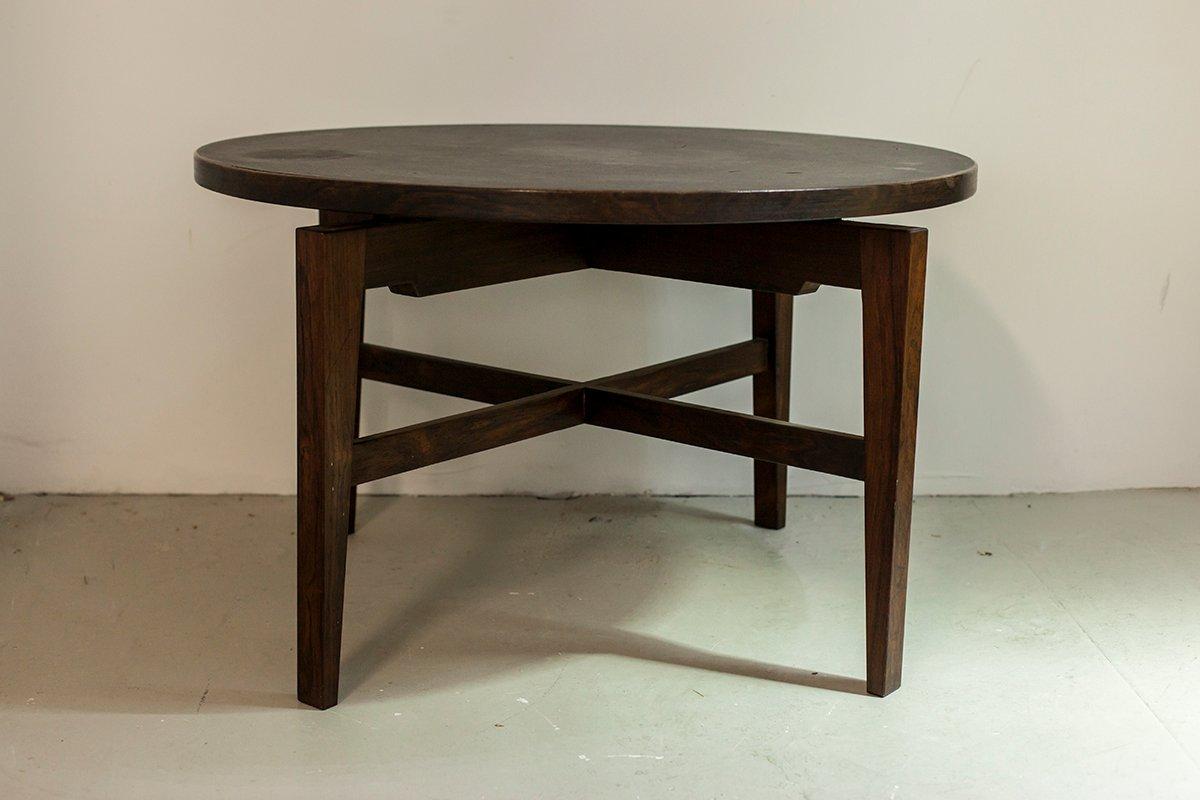 runder tisch aus palisander und linoleum von jens risom. Black Bedroom Furniture Sets. Home Design Ideas