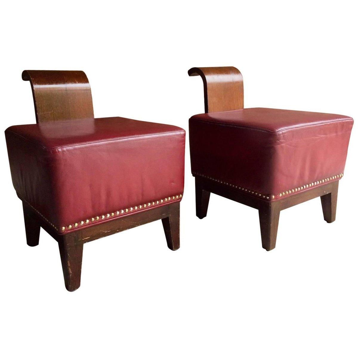 Französische Art Deco Cocktail Sessel, 2er Set