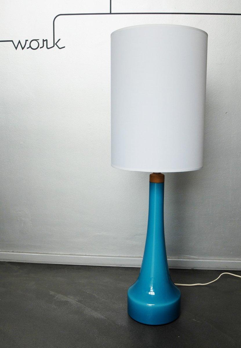 Dänische Tischlampe aus Glasvon Holmegaard Glasvaerk