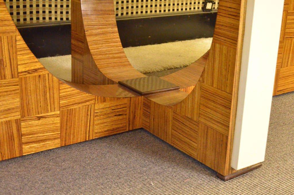 Oval Italian Art Deco Zebrano Wood Table 1930s For Sale At Pamono