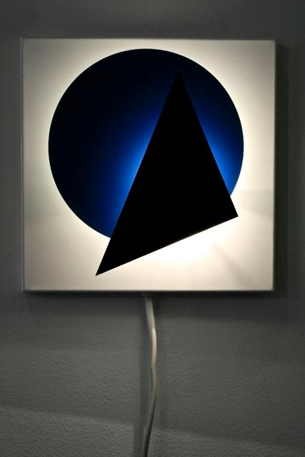 Geometrische Vintage Wandlampe