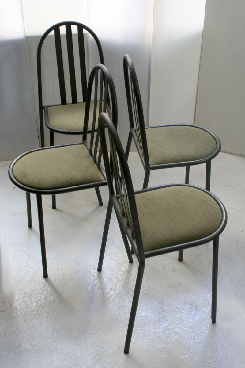 dining chairs by robert mallet stevens 1980s set of 4 for sale at pamono. Black Bedroom Furniture Sets. Home Design Ideas