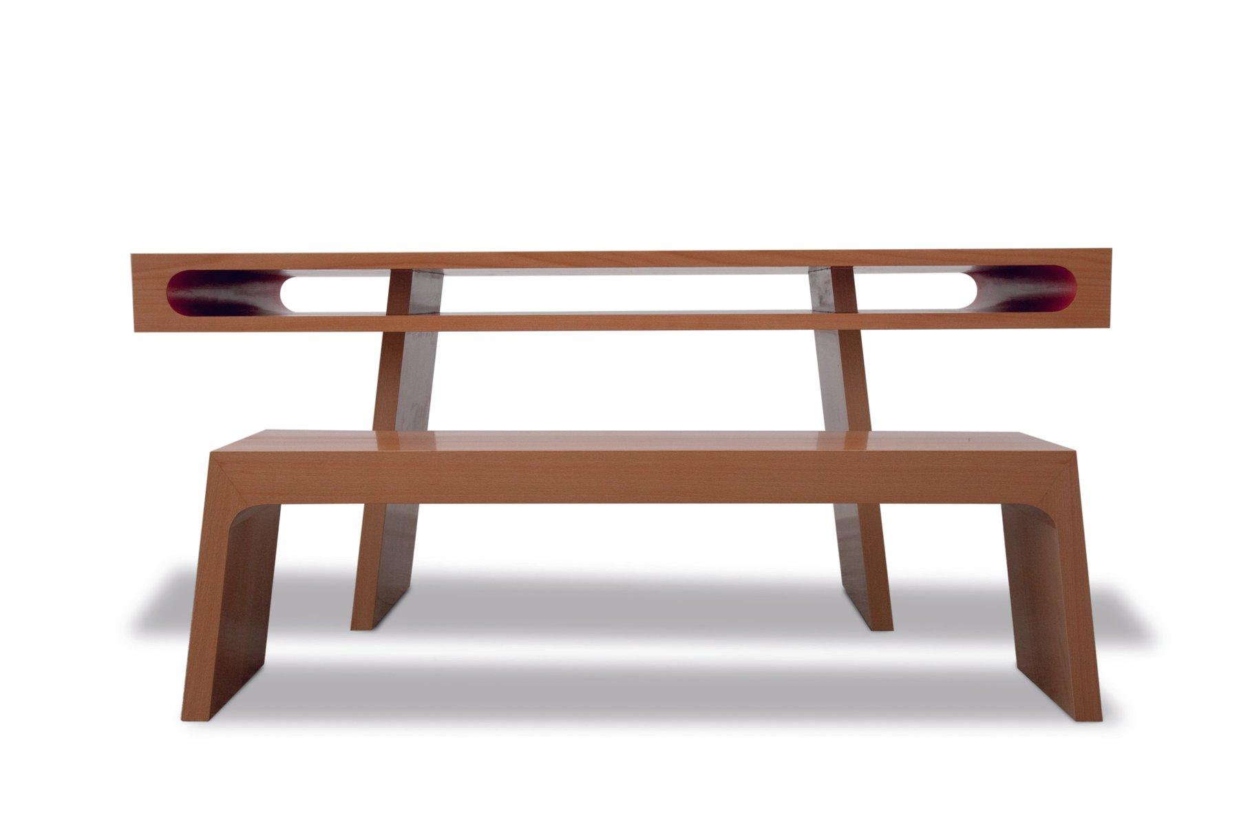 Tisch mit Rotem Einschub von Maria Vidali