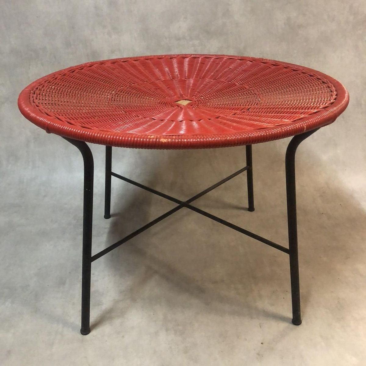 Rattan Coffee Table 1950s For Sale At Pamono