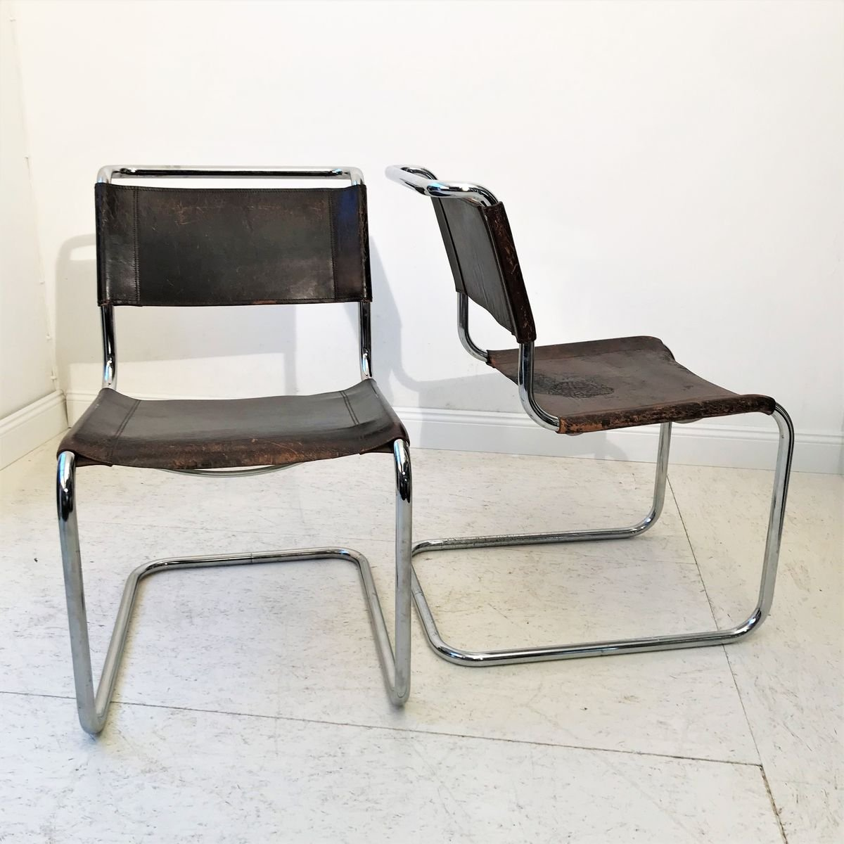 Vintage S33 Side Chairs By Mart Stam Und Marcel Breuer For Thonet 1984 Set Of 2 For Sale At Pamono