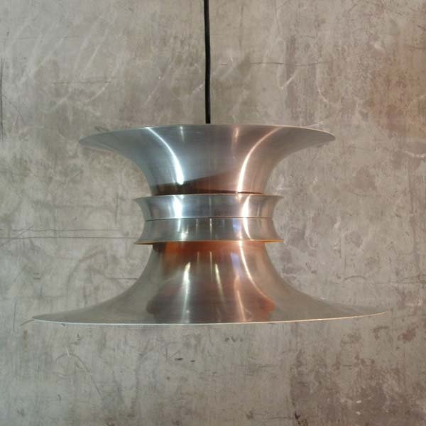 Dänische Hängelampe aus Aluminium von Bent Nordsted für Lyskaer Belysn...