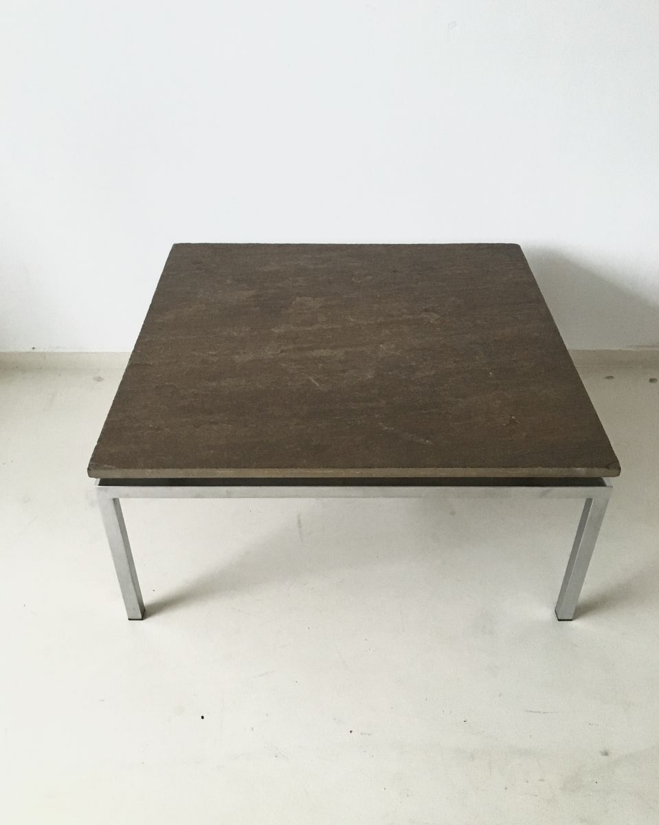 Beau Brutalist Stone Coffee Table, 1960s