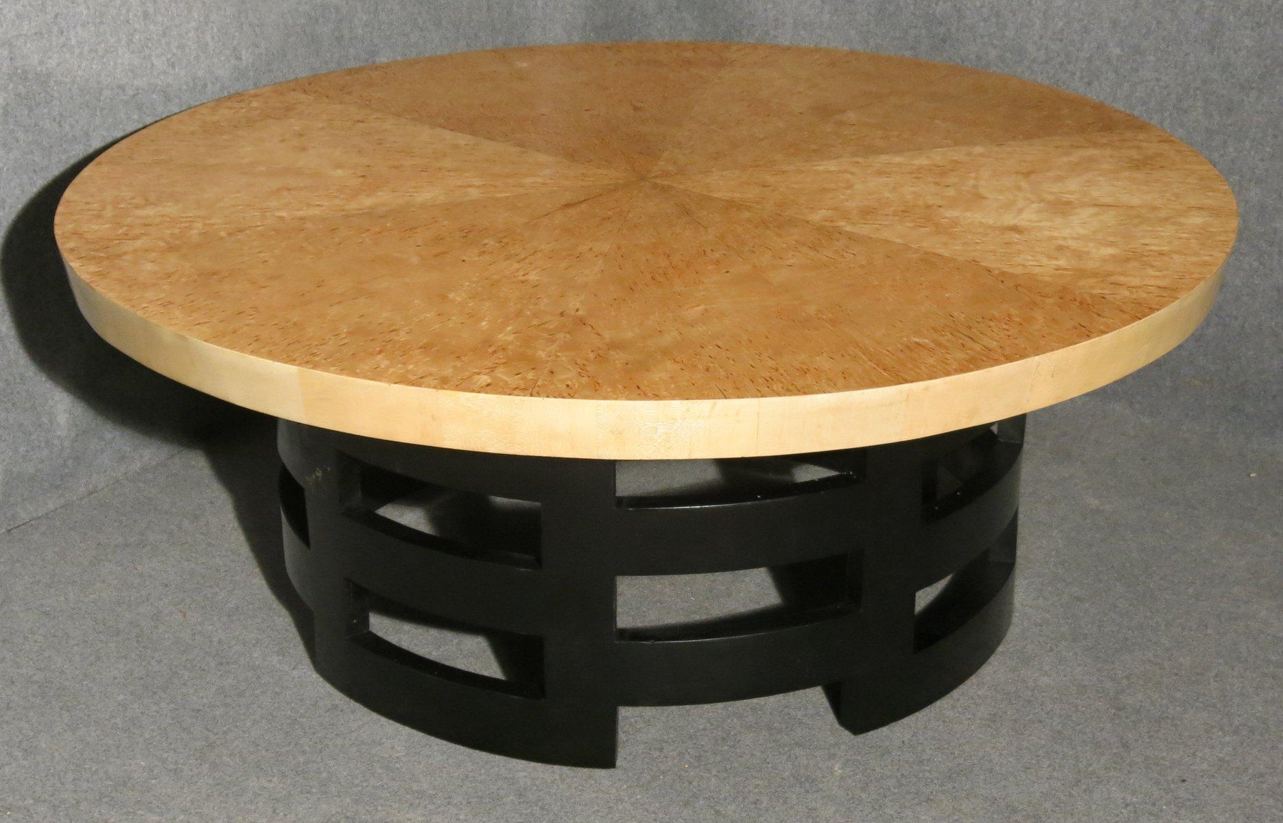 table basse art d co en bouleau france en vente sur pamono. Black Bedroom Furniture Sets. Home Design Ideas
