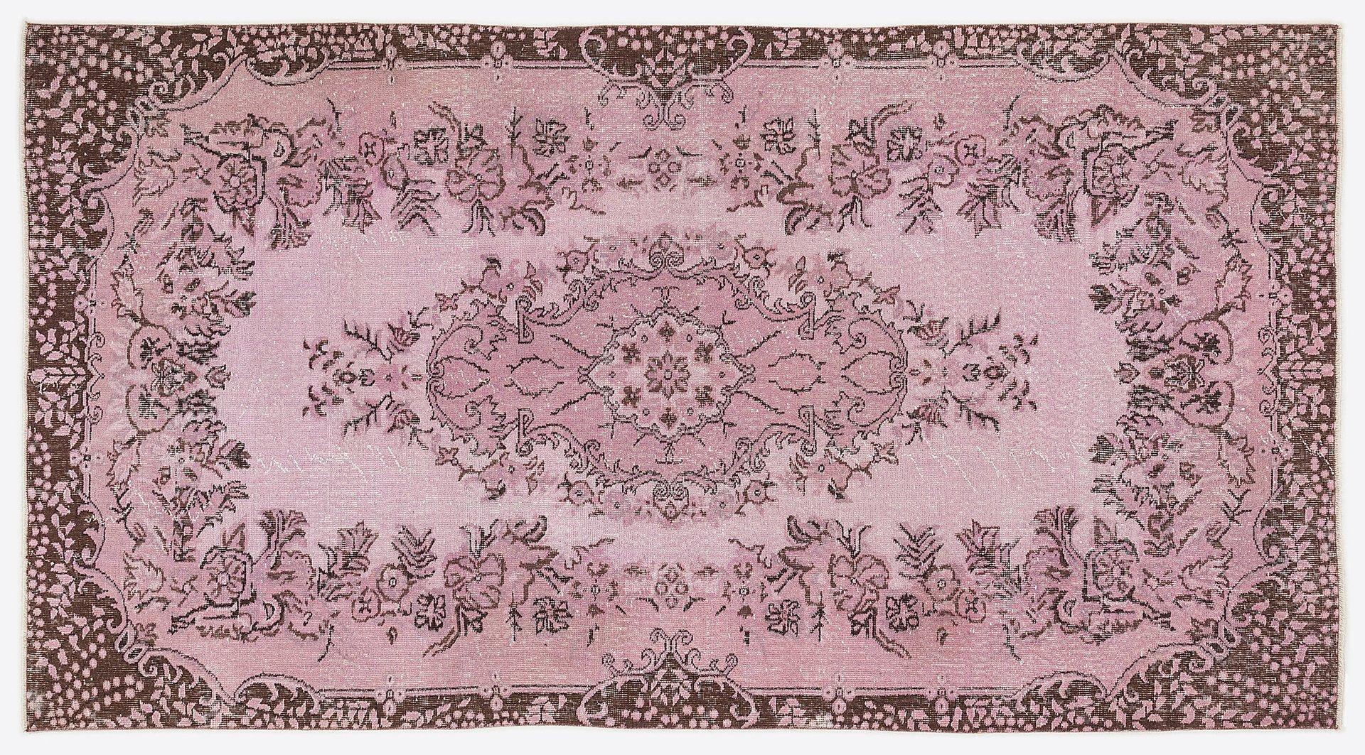 Türkischer Vintage Teppich in Floralem Muster