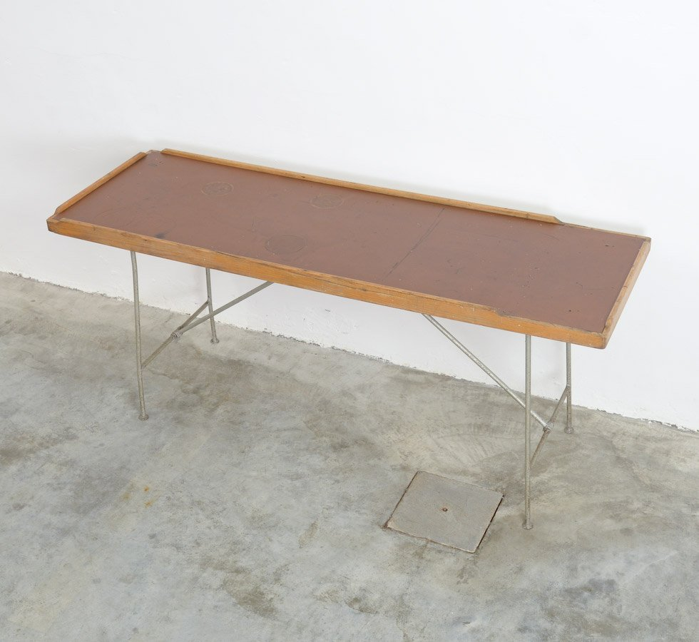 Merveilleux Industrial Folding Table, 1940s