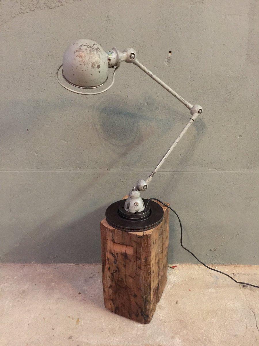 Industrielle Vintage Verstellbare Tischlampe von Jean-Louis Domecq für...