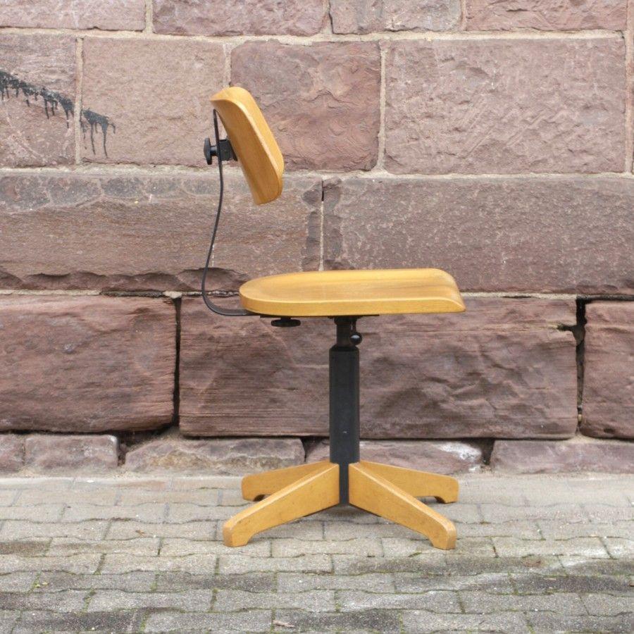 Sedia Da Ufficio Vintage Industriale Regolabile In Vendita