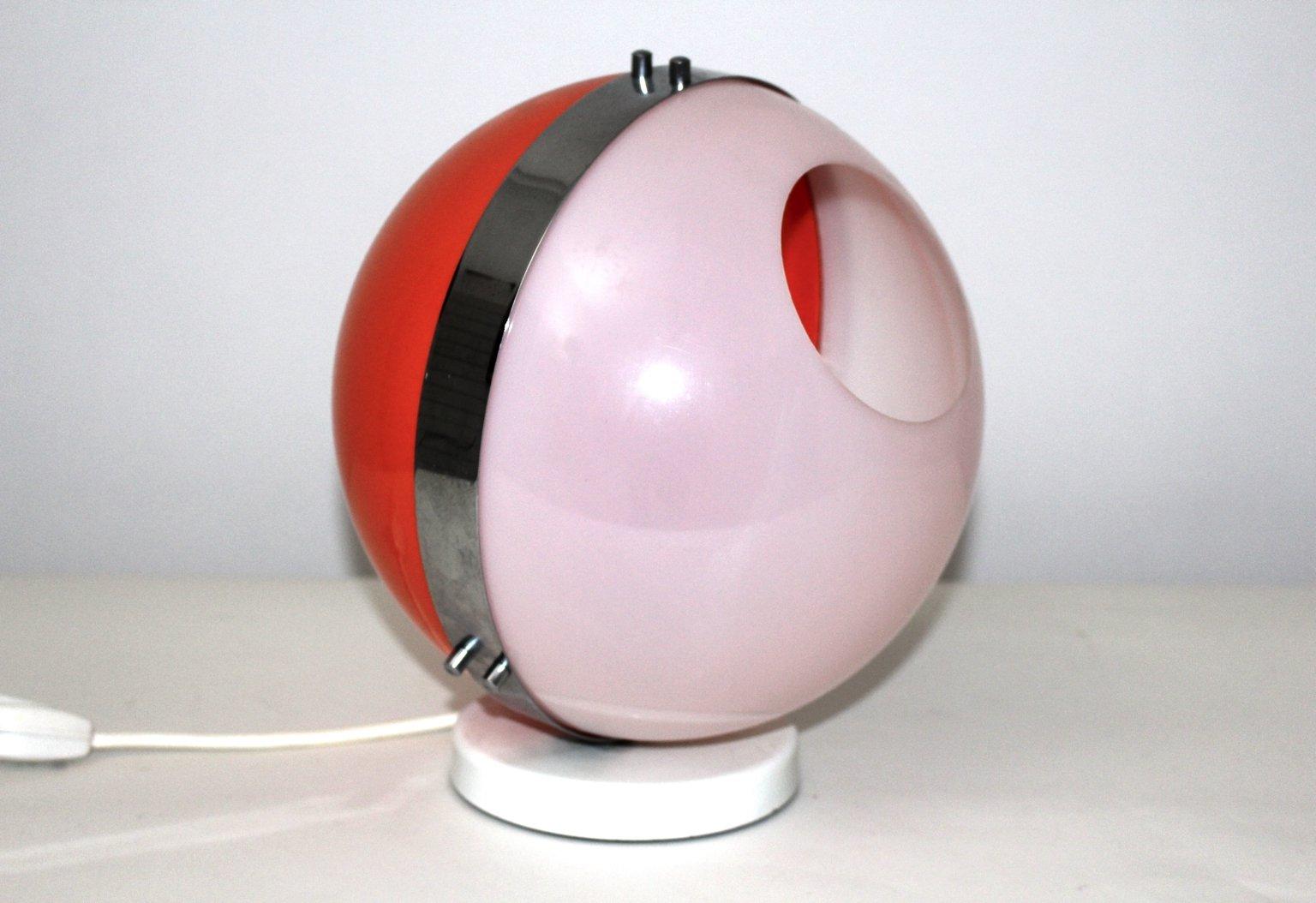 Tischlampe Modell Plexi Ball aus Kunststoff, 1970er