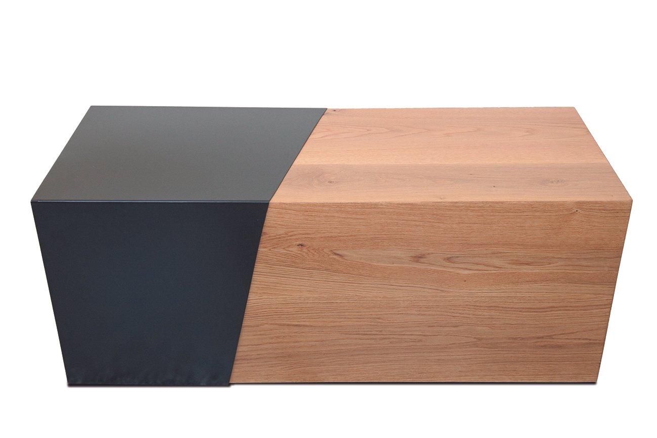 Couchtisch aus Metall und Holz von Maria Vidali