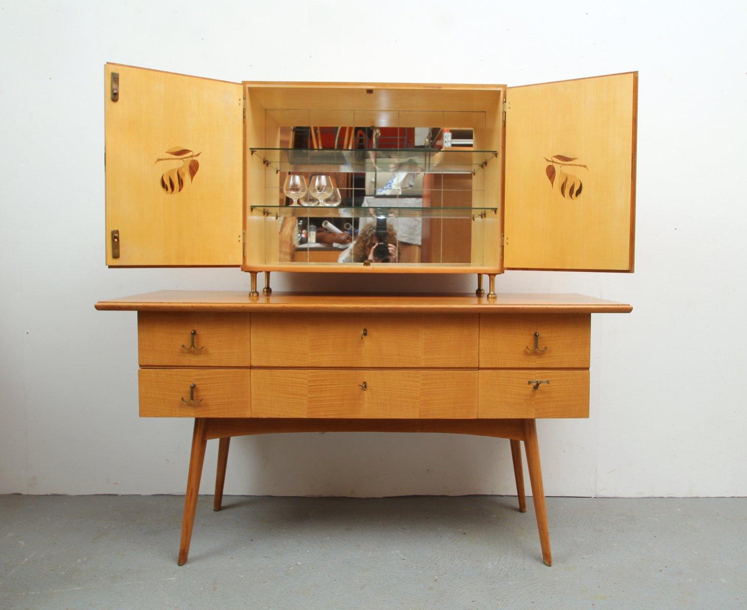Aparador y mueble bar de cerezo a os 50 en venta en pamono - Mueble anos 50 ...