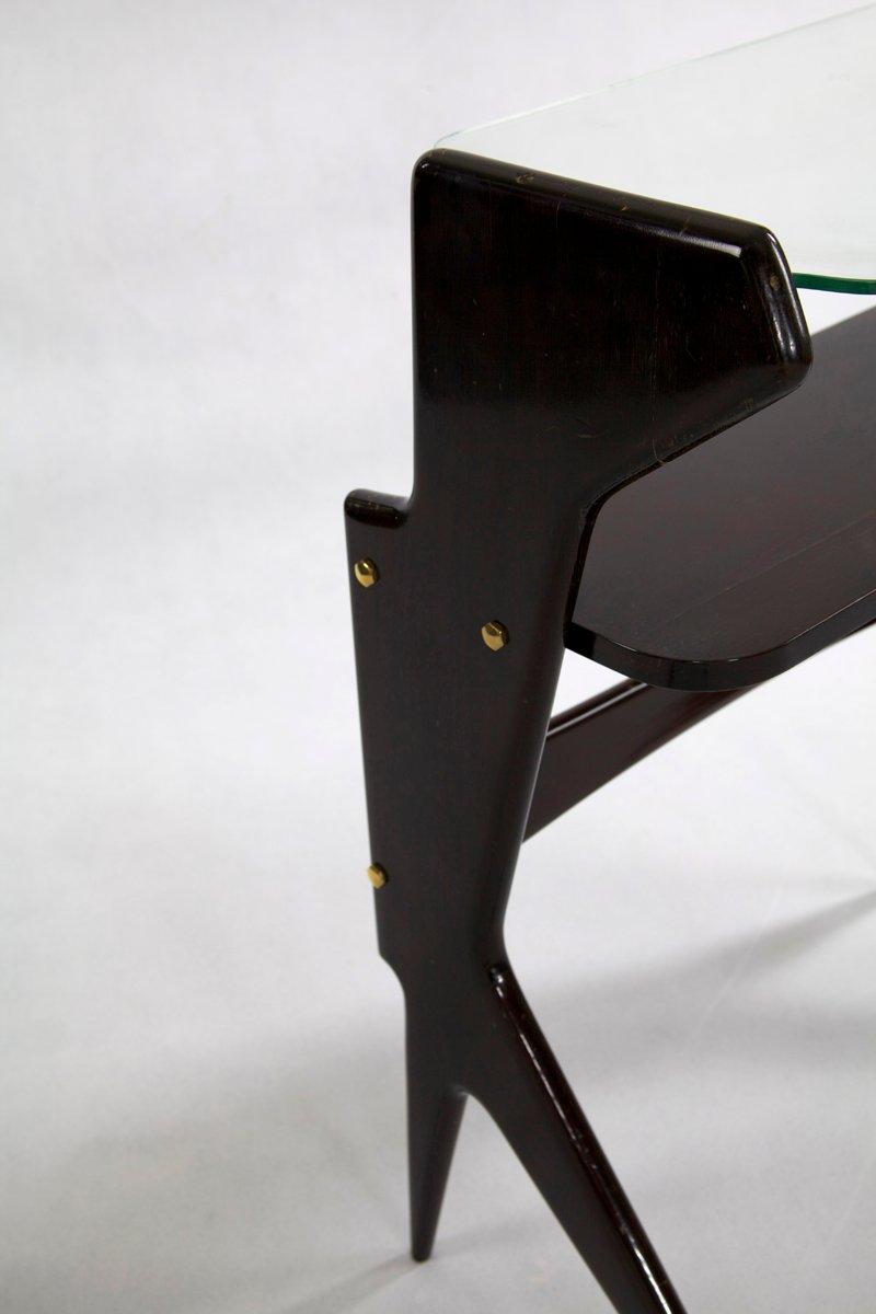 italienischer konsolentisch aus glas palisander 1950er bei pamono kaufen. Black Bedroom Furniture Sets. Home Design Ideas