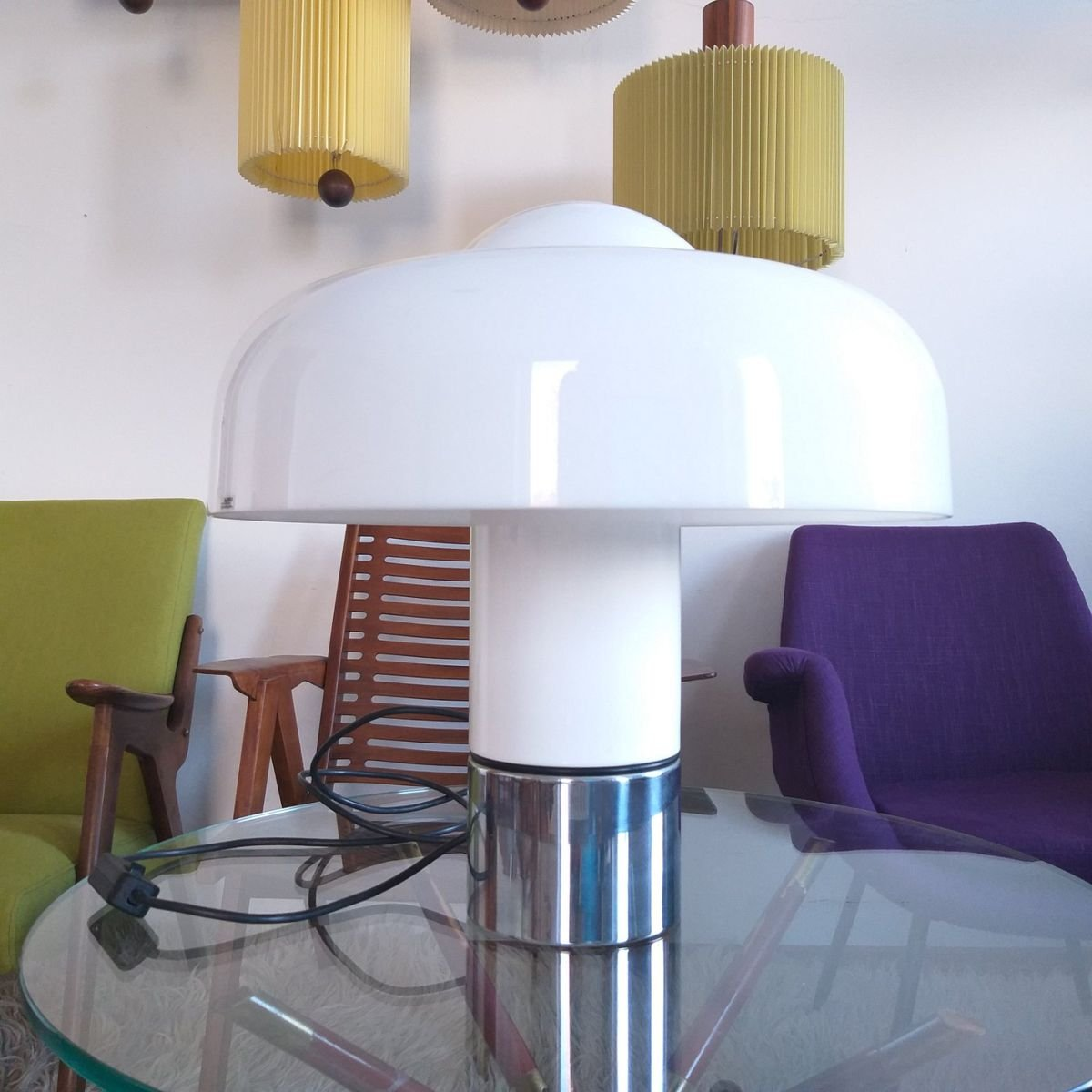 Vintage Brumbury Table Lamp By Luigi Massoni For Guzzini 1972 For Sale At Pamono