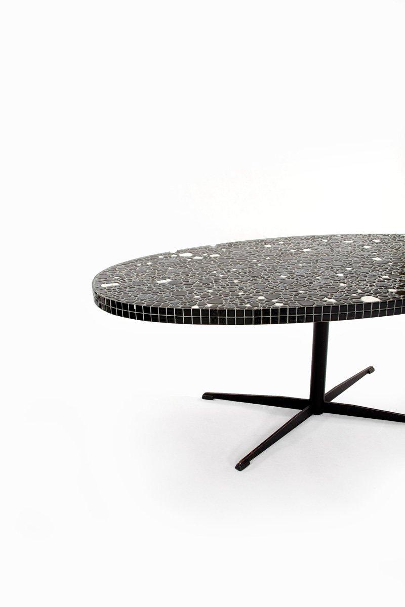 ovaler vintage tisch mit mosaikplatte bei pamono kaufen. Black Bedroom Furniture Sets. Home Design Ideas
