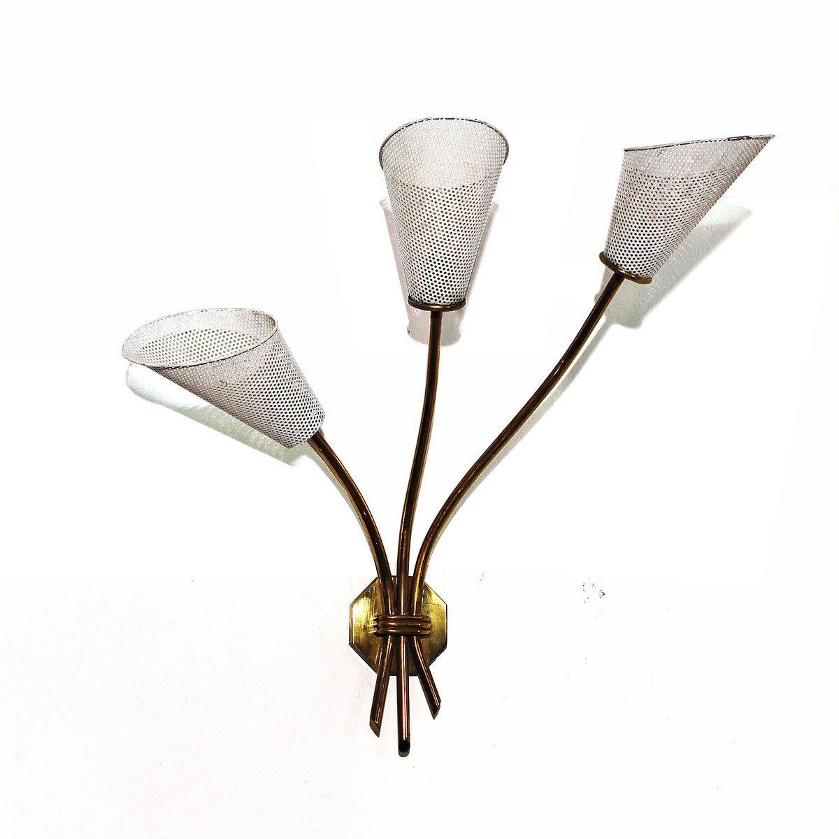 Wandlampe mit Drei Leuchten, 1960er