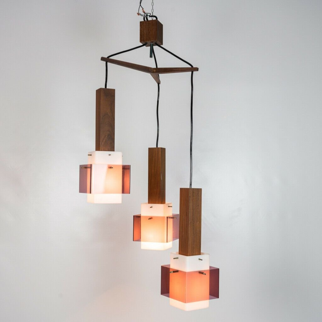 Vintage 3 Light Ceiling Lamp From Guzzini 1960s For Sale At Pamono