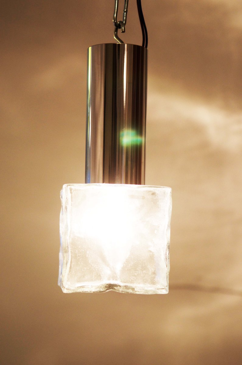 vintage wandlampe aus glas und stahl von j t kalmar bei pamono kaufen. Black Bedroom Furniture Sets. Home Design Ideas