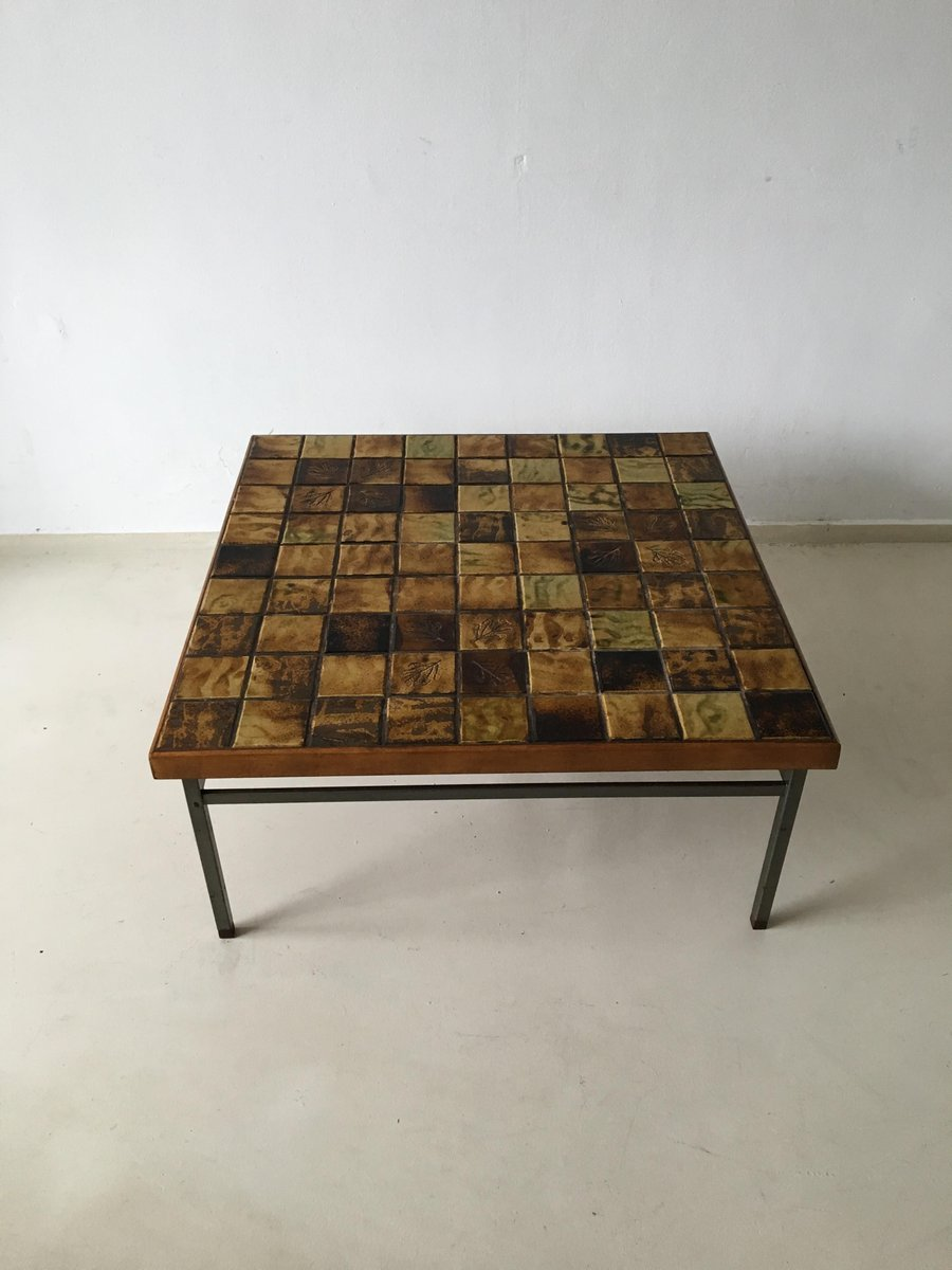 Attrayant Vintage Mosaic Coffee Table By Webe, 1960s