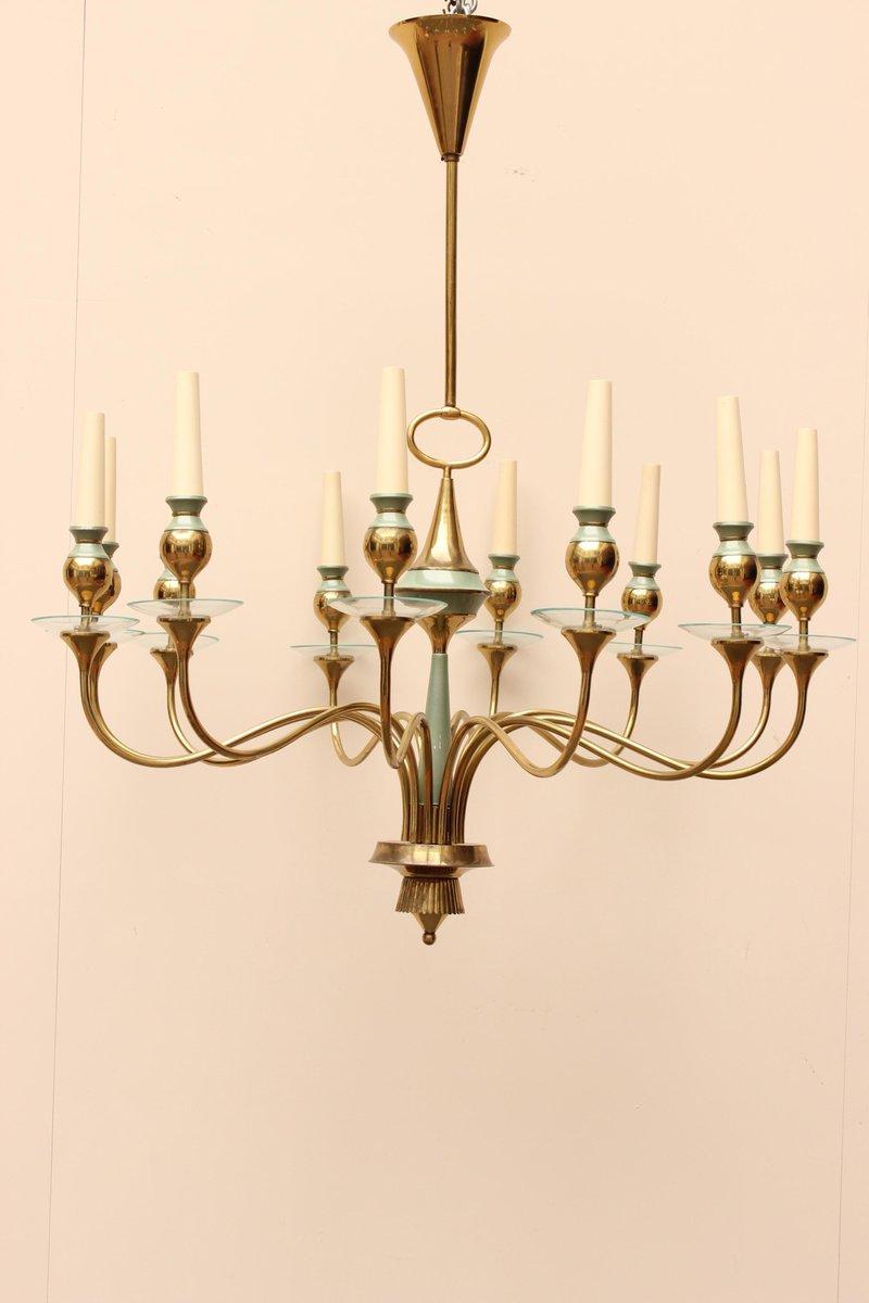 Messing Deckenlampe von Stilnovo
