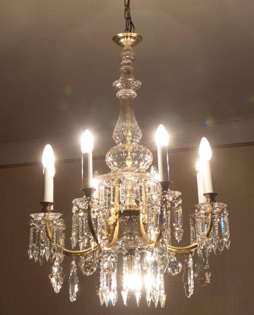 Lustre en cristal taill de j l lobmeyr en vente sur pamono - Lustre cristal occasion belgique ...