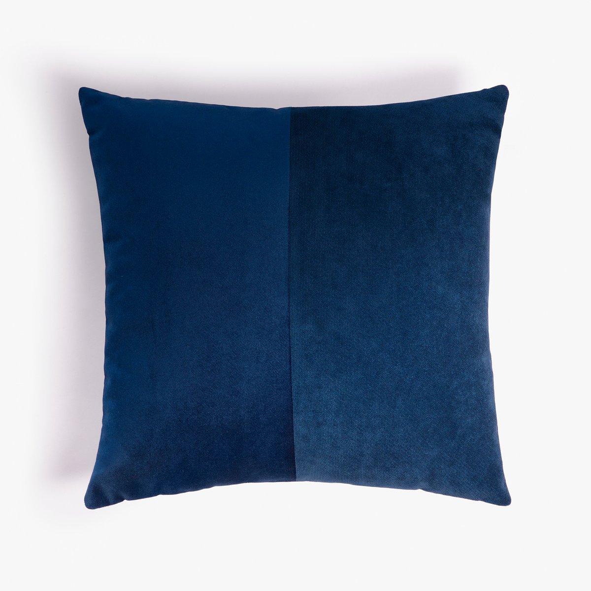 double blue velvet cushion cover by lorenza briola