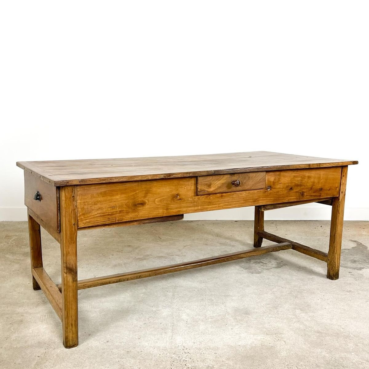 French Antique Cherry Wooden Kitchen Farmhouse Table For Sale At Pamono