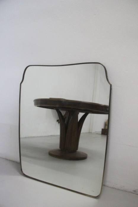 Geformter spiegel mit messingrahmen 1940 bei pamono kaufen for Spiegel mit messingrahmen