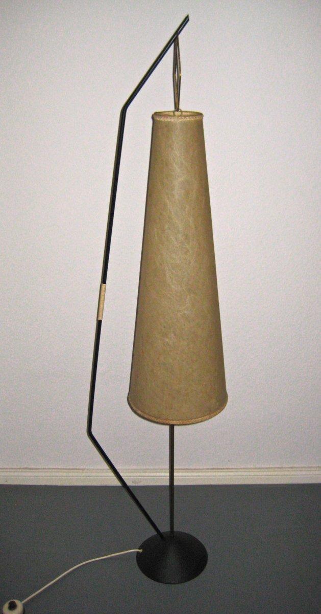 Mid-Century Stehlampe mit Papierschirm, 1950er